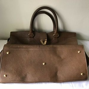 Yves Saint Laurent Bags - Yves Saint Laurent Paris Cabas Brown Smooth Leathe